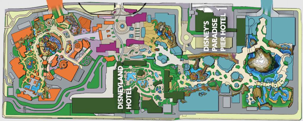 DisneylandForward theme park expansion map