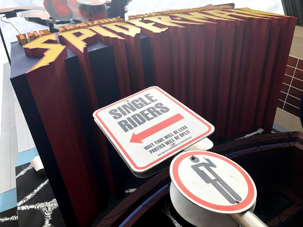 Single Rider line entrance at Universal Orlando Islands of Adventure Spider-Man ride