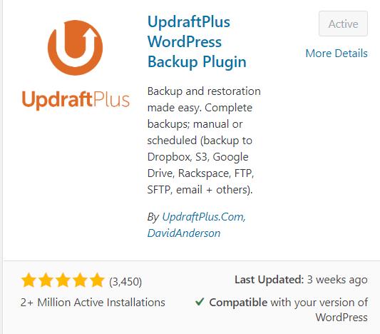 updraft wordpress plugin
