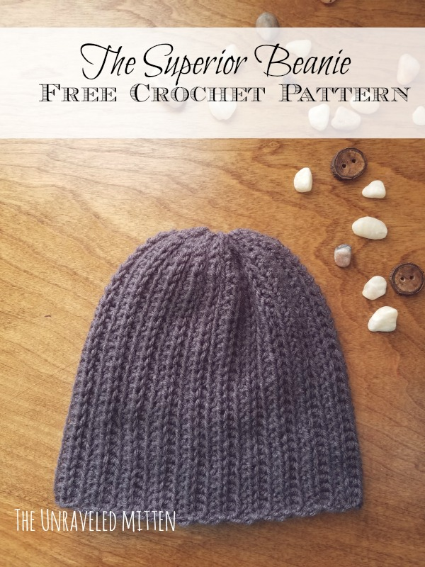 Knit Look Ribbed Crochet Hat Free Pattern