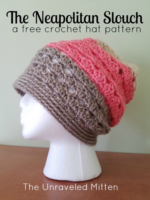 Neapolitan Eyelet Slouchy Hat A Free Crochet Pattern The