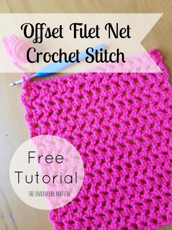 Offset Filet Net Stitch A Crochet Tutorial The Unraveled Mitten