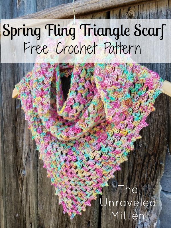 Spring Fling Triangle Shawl Crochet Pattern Free