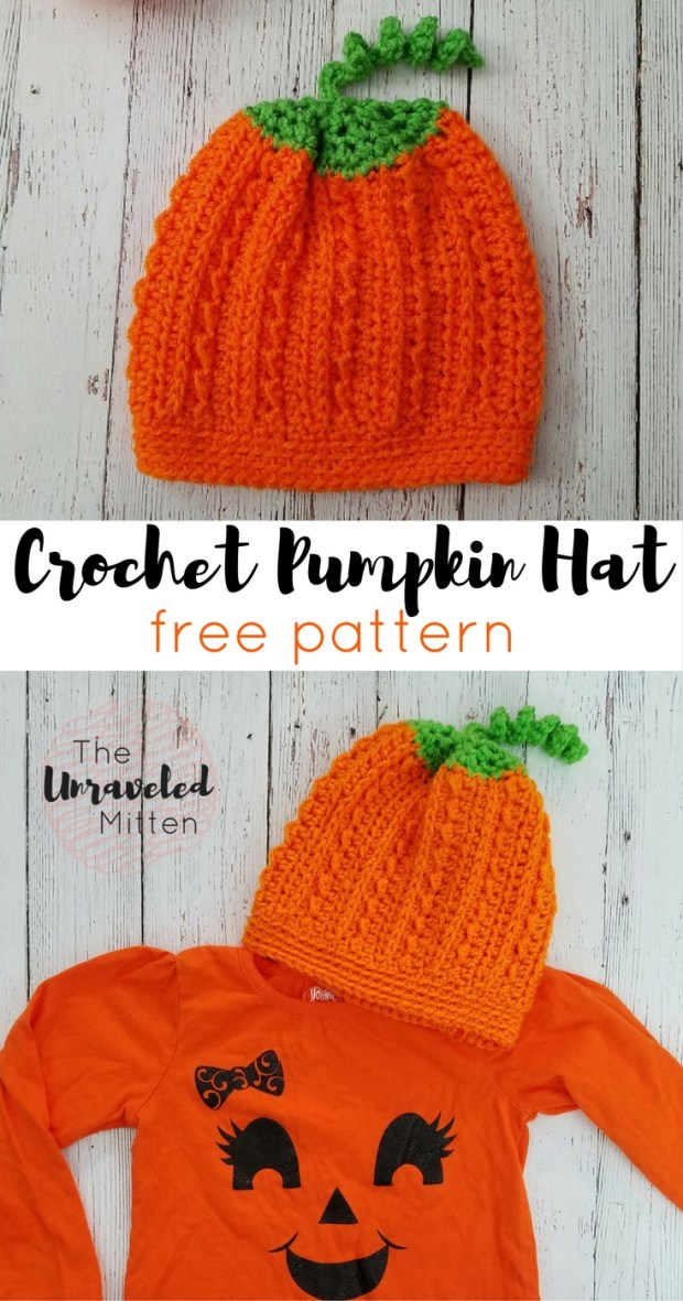 Pumpkin Hat | Free Crochet Pattern | The Unraveled Mitten | Halloween Costume