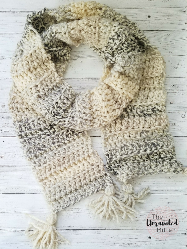 Easy Super Scarf | Free Crochet Pattern | The Unraveled Mitten