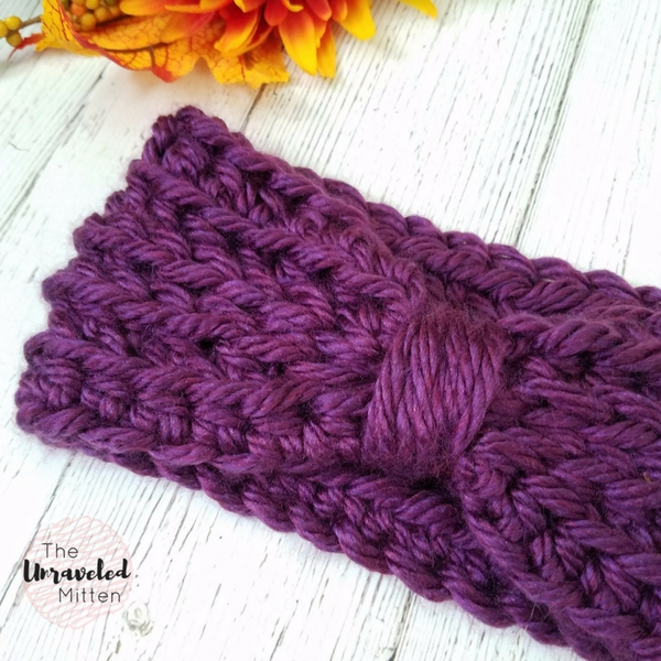 Two Track Ear Warmer | Crochet Pattern | The Unraveled Mitten