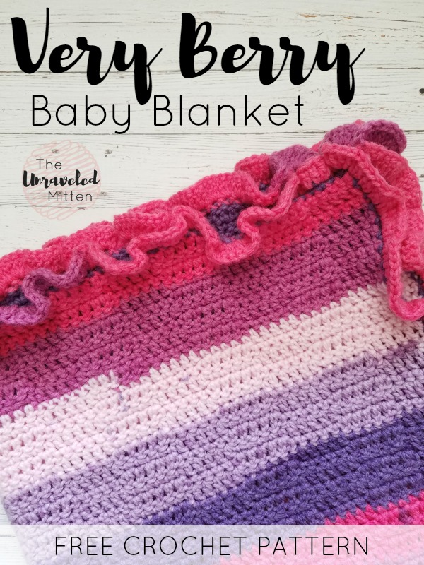 Very Berry Baby Blanket | Free Easy Crochet Pattern | The Unraveled Mitten
