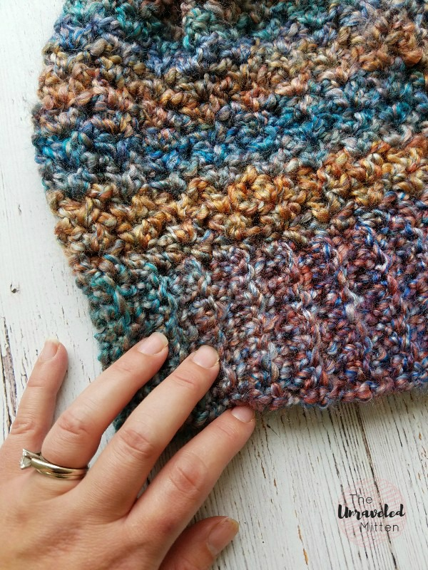 Color Tour Slouchy Hat | Free Crochet Pattern | The Unraveled Mitten