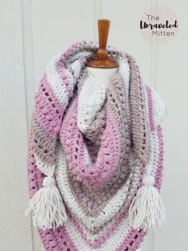 What You Love Shawl   Free Crochet Pattern   The Unraveled Mitten   Triangle Scarf