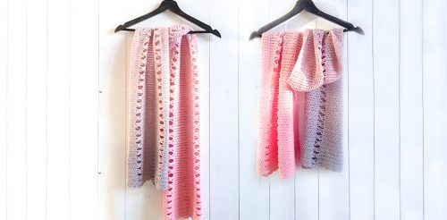 Connected Bows Shawl | | Free Crochet Pattern | 9 Crochet Shawls for Spring Round up by The Unraveled Mitten