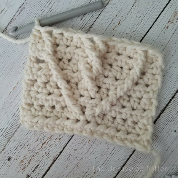 Crochet Cable Heart tutorial 3