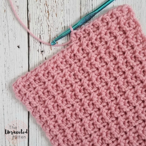 How To Crochet The Back Front Loop Half Double Crochet The Unraveled Mitten
