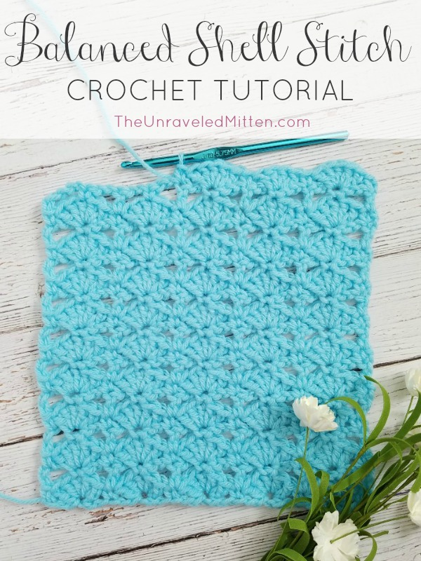 Crochet Stitch Tutorial: Balanced Shell Stitch