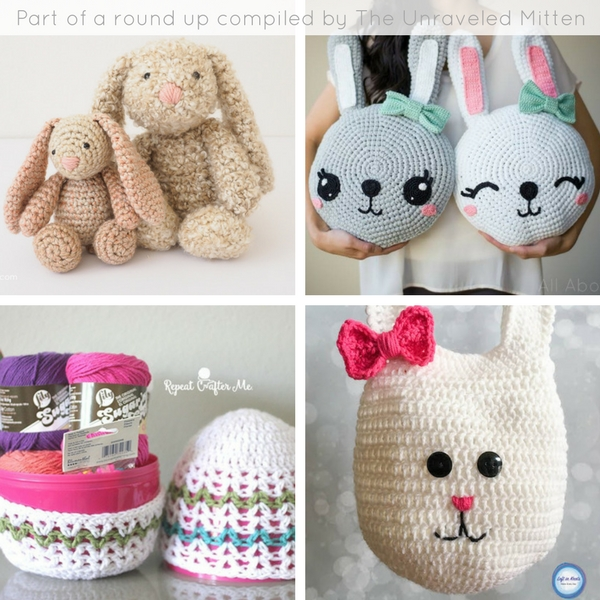 8 FREE Easter Crochet Patterns | Compliled by The Unraveled Mitten | 1-4