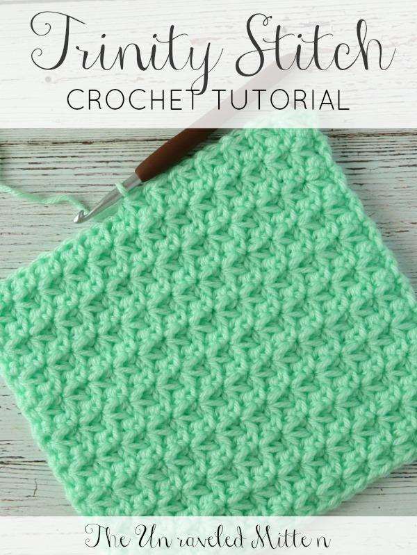 Crochet Stitch Tutorial The Trinity Stitch The