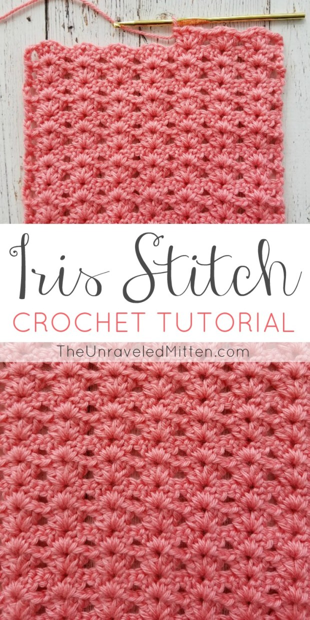 Iris Stitch Croche Tutorial | The Unraveled Mitten | Easy Shell Stitch | blanket | scarf | Beginner