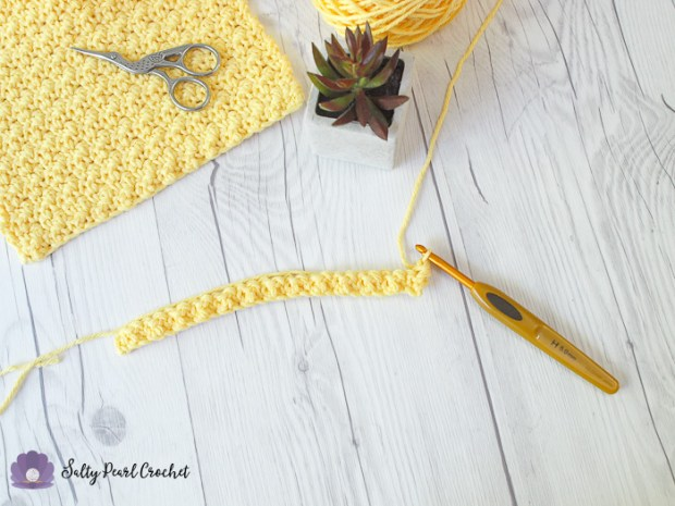 Crochet Lemon Peel Stitch Tutorial Step 6