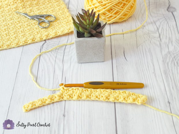 Crochet Lemon Peel Stitch Tutorial Step 9