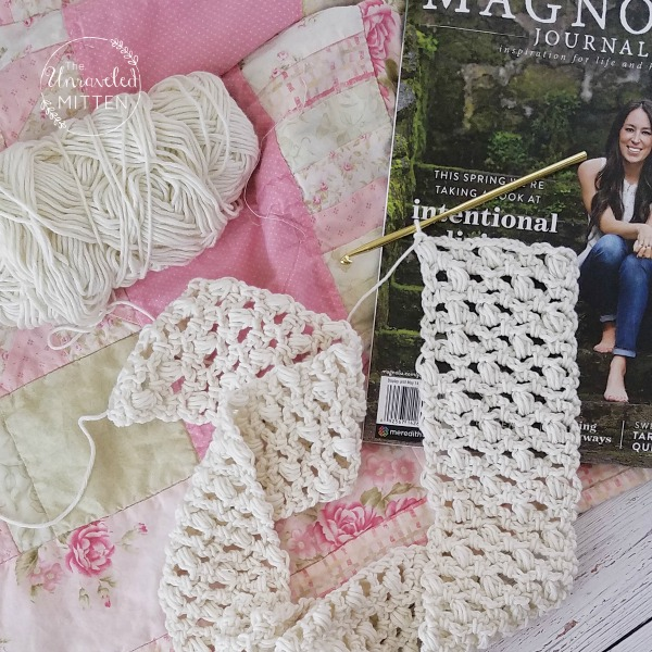 Easy Lace Scarf | Free Crochet Pattern | The Unraveled Mitten