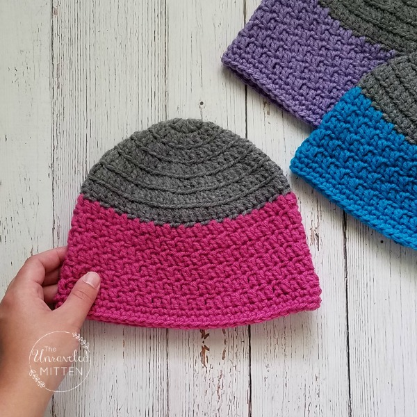 Rapids Beanie | Free Crochet Pattern | Child Sizes | The Unraveled Mitten