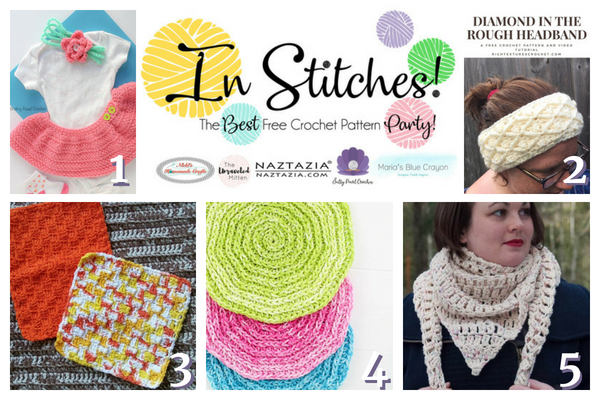 In Stitches #17 | Best Free Crochet Pattern Link Party | The Unraveled MItten