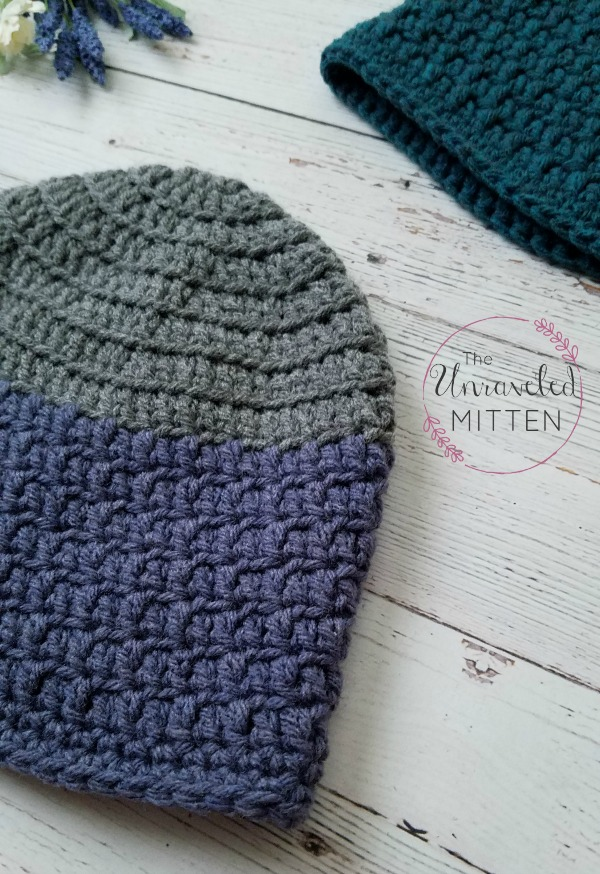Rapids Beanie | Free Crochet Pattern | Adult Size | The Unraveled Mitten |