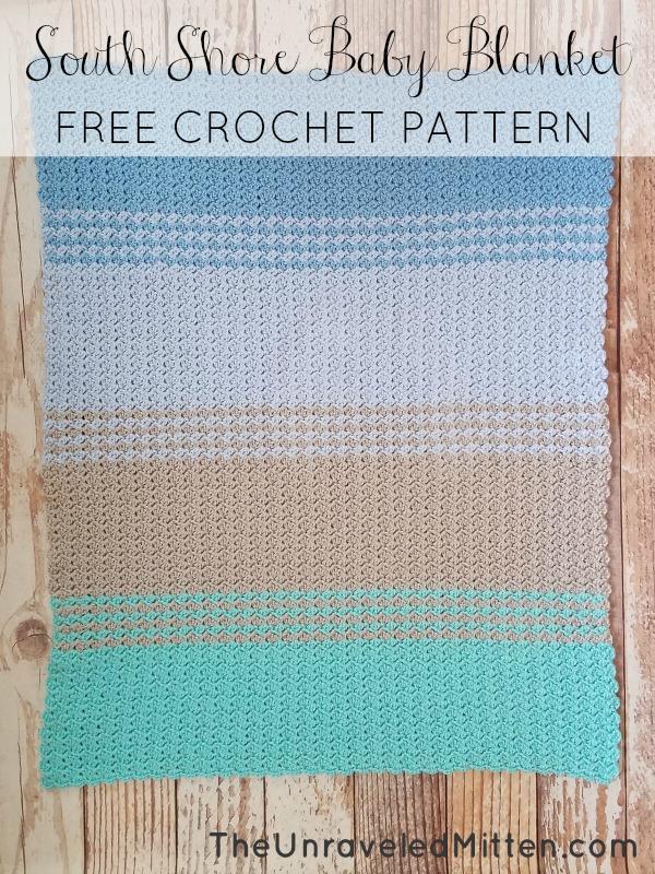 South Shore Baby Blanket: Free Crochet Pattern