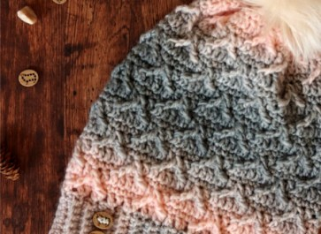 Hometown Crochet Slouchy Hat | Free Crochet Pattern | The Unraveled Mitten | This textured crochet hat uses crochet post stitches to create an interesting pattern.