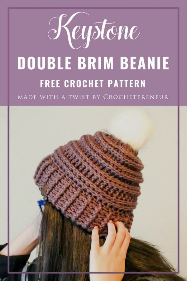 Keysotne Double Brim Beanie by Crochetprener | Free Crochet Pattern | Part of In Stitches #19 on The Unraveled Mitten