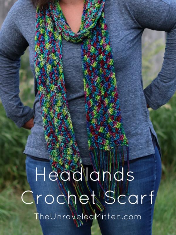Headlands Crochet Scarf Pattern for Darn Good Yarn | The Unraveled Mitten