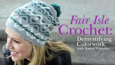 Learn fair isle crochet with this online class