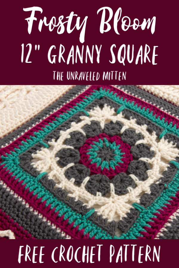 Frosty Bloom 12 Granny Square Free Crochet Pattern The Unraveled