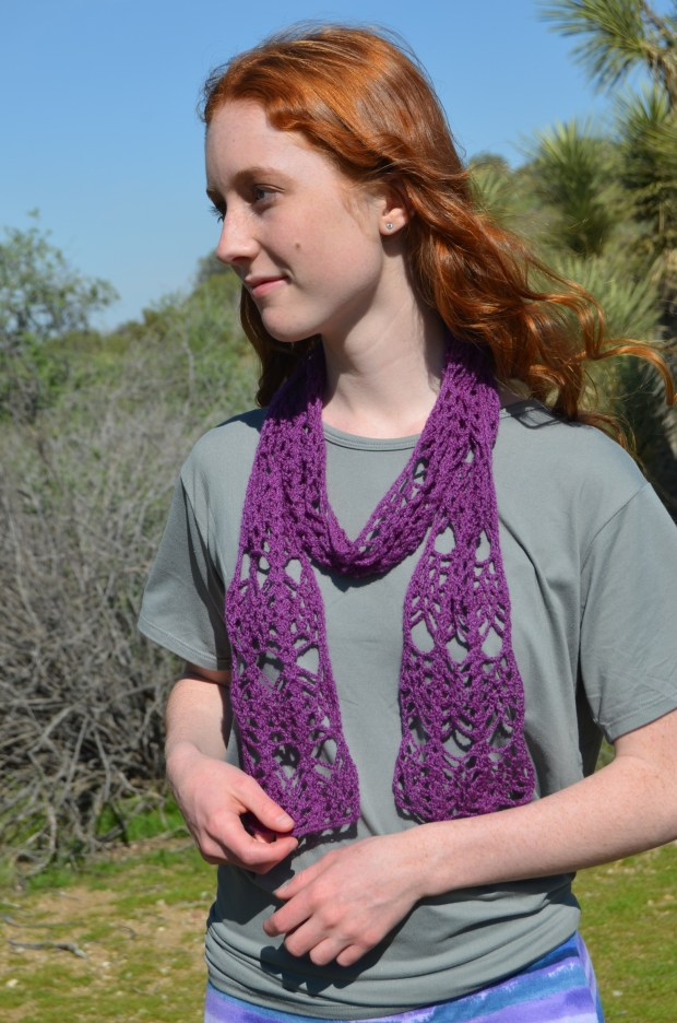 Royalty Scarf by Desert Blossom Crafts | Free Crochet Pattern | part of a round up on The Unraveled Mitten