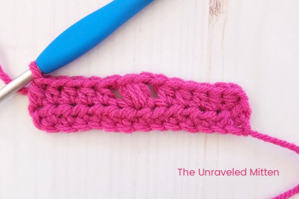 Tiny Flower Crochet Stitch Step 1 | The Unraveled Mitten