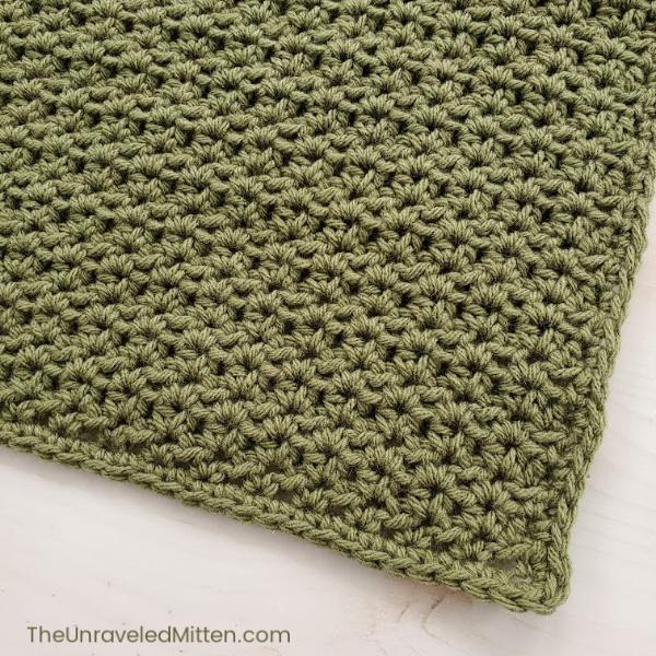 Half double crochet v stitch | The Unraveled mitten