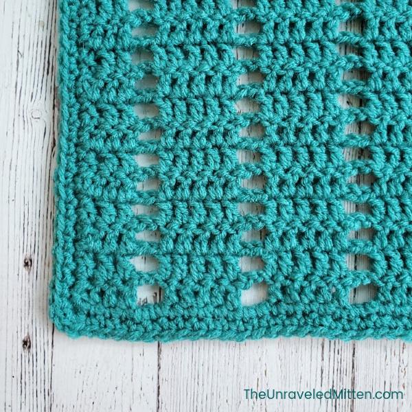 Vertical Filet Stitch Square | Free Crochet Pattern