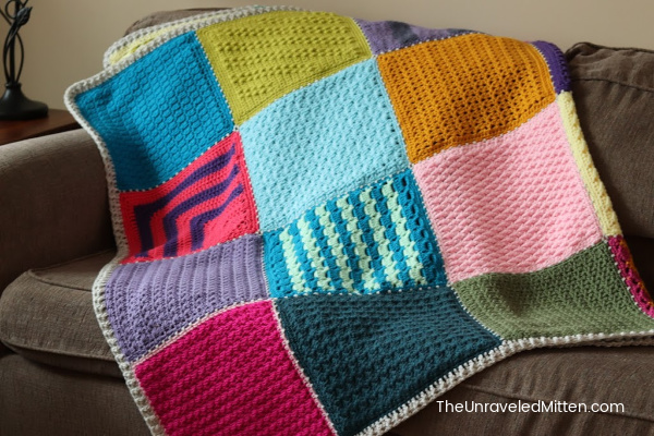 Joining and Border Instructions for the 2019 Stash Busting Sampler Afghan CAL | Free Crochet Pattern | The Unraveled Mitten
