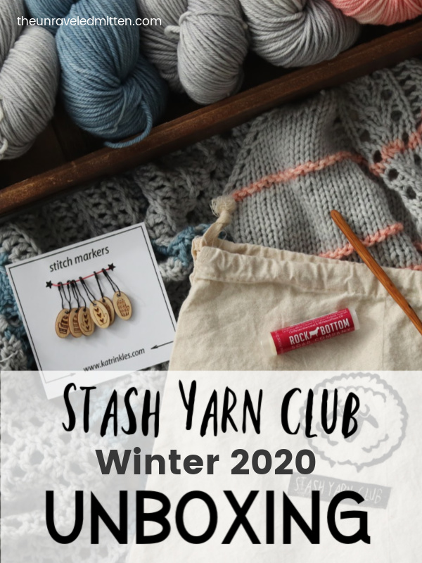 Stash Yarn Club is a seasonal knit and crochet subscription featuring hand dyed yarn, patterns and goodies. Its a yarn retreat in a box!
