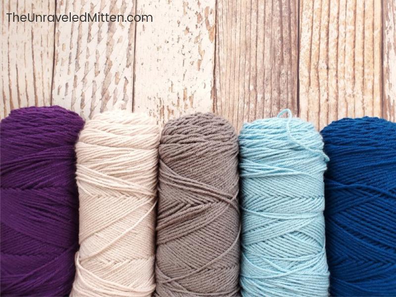 Winter Waves Crochet Along Color Scheme