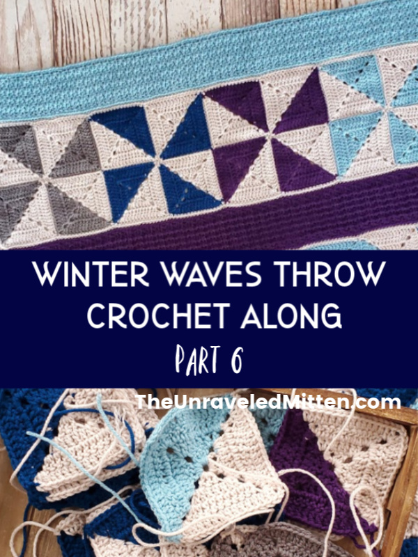 Winter Waves Quilt Inspired Crochet Throw Blanket Crochet Along | The Unraveled Mitten