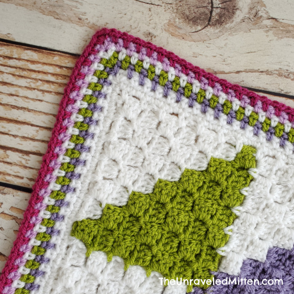 Linen Stitch Crochet Blanket Border