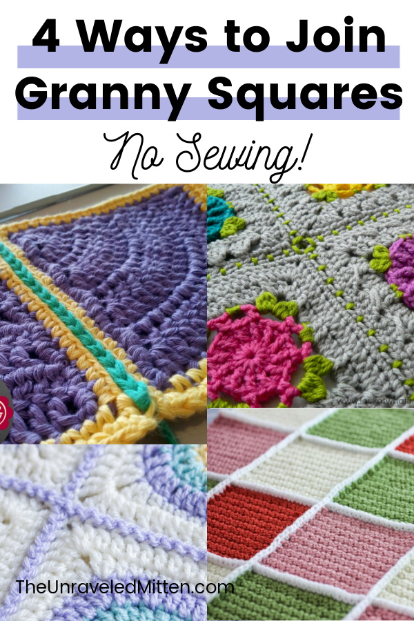 Join your granny squares without sewing by using one of these easy techniques!