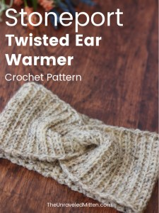 Ribbed Twisted Crochet Ear Warmer Pattern   Stoneport Ear Warmer   The Unraveled Mitten   This easy crochet pattern works up quickly using half double crochet stitches.