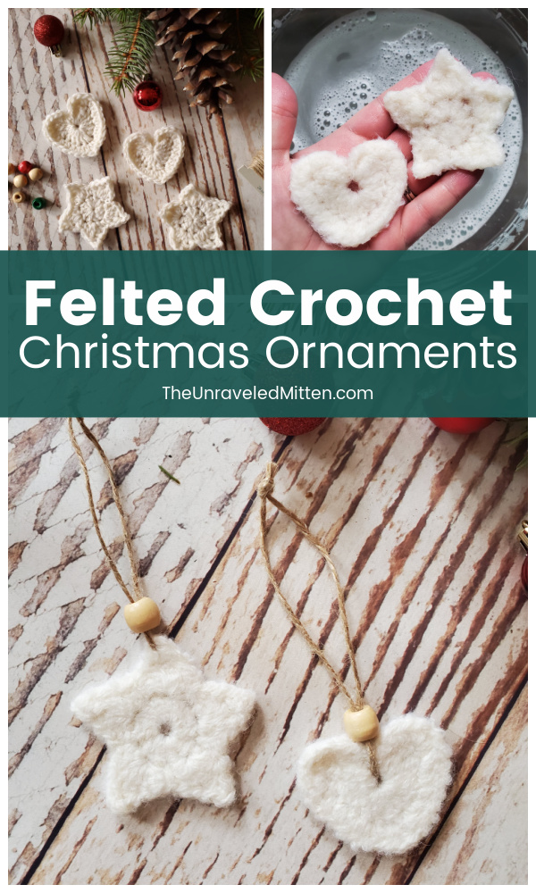 Felted Crochet Christmas Ornaments