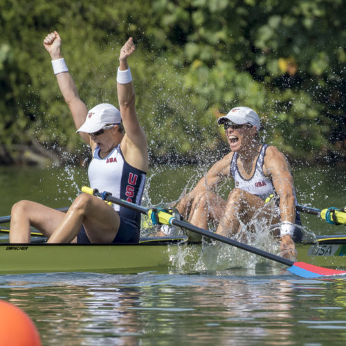 Despite starting the sport late in life, Meghan became an Olympic rower.