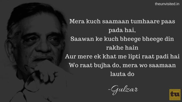 The Unvisited gulzar poetry 4