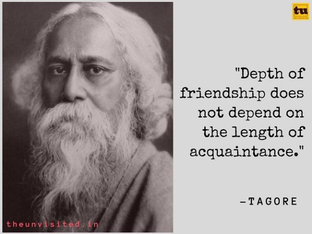 The Unvisited Rabindranath Tagore quote