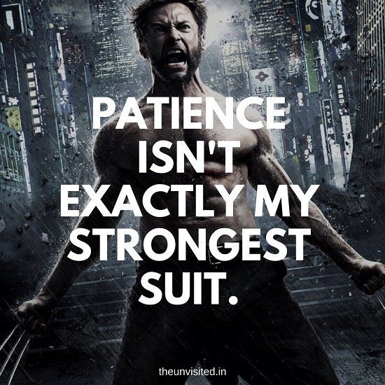 Patience isn't exactly my strongest suit. the unvisited