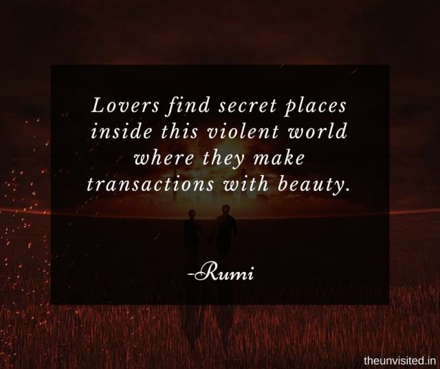 the unvisited Lovers find secret places inside this violent world where they make transactions with beauty.