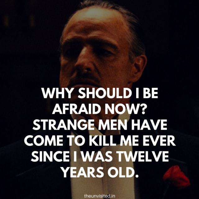 godfather quotes the unvisited movie hollywood Don Vito Corleone 8
